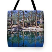 Palm Tree Reflections Tote Bag