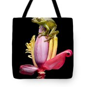 Palm Treefrog On A Banana Flower Tote Bag