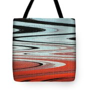 Palm Trees Abstract Design Tote Bag