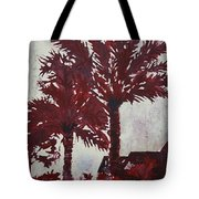 Palm Trees Acrylic Modern Art Painting Tote Bag