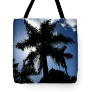 Palm Trees In Silhouette Tote Bag