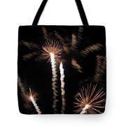 Palm Trees In Space Tote Bag