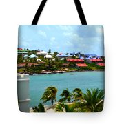 Palm Trees Of Oyster Bay Tote Bag