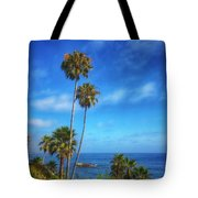 Palm Trees On The Pacific Tote Bag