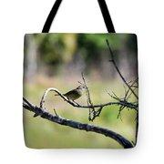 Palm Warbler Greetings Tote Bag
