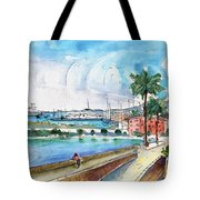 Palma De Mallorca Panoramic 01 Tote Bag