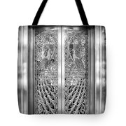 Palmer Hotels Peacock Door Tote Bag