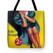 Palmers - Halb-strumpf - Vintage Germany Advertising Poster Tote Bag