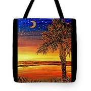 Palmetto Sunset  Tote Bag