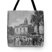 Palmetto Tree And Old Custom House Tote Bag