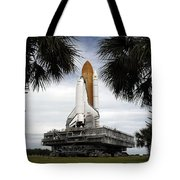 Palmetto Trees Frame Space Shuttle Tote Bag by Stocktrek Images