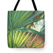 Palmettos And Stellars Blue Tote Bag by Marguerite Chadwick-Juner