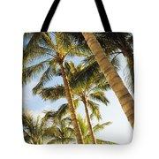 Palms Against Blue Sky Tote Bag