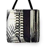 Palms And Columns Tote Bag