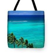 Palms And Ocean Tote Bag