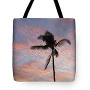 Palms And Pink Clouds Tote Bag