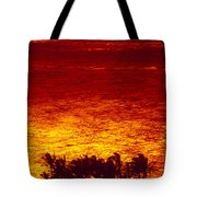 Palms And Reflections Tote Bag