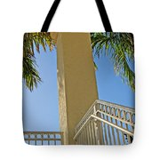 Palms And Stairs Tote Bag