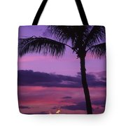 Palms And Tiki Torches Tote Bag