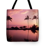 Palms At Still Lagoon Tote Bag
