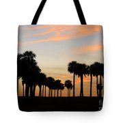 Palms At Sunset Tote Bag