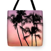 Palms At Sunset Tote Bag