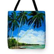 Palms By The Ocean Tote Bag