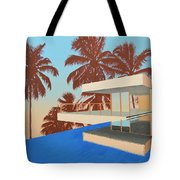 Palms On The Edge Tote Bag