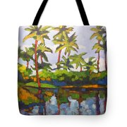 Palms Reflections Tote Bag