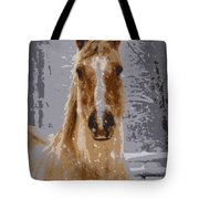 Palomino In The Snow Tote Bag