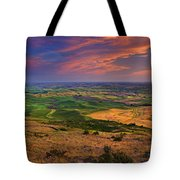 Palouse Skies Ablaze Tote Bag