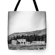Paragliding Over The Ruins Of Pamukkale Tote Bag