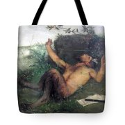 Pan Whistling At A Blackbird 1863 Tote Bag