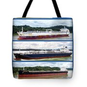 Panama Canal Cargo Ships Tote Bag