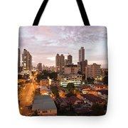Panama City At Night Tote Bag