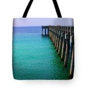 Panama City Beach Pier Tote Bag by Toni Hopper