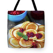 Pancakes With Cranberry Jam Tote Bag