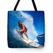 Pancho Makes The Wave Tote Bag by Vince Cavataio - Printscapes
