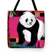 Panda Abstrack Color Vision  Tote Bag