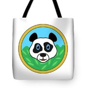 Panda Bear Head Tote Bag