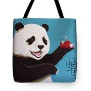 Panda Joy Blue Tote Bag