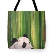 Pandas Fading  Tote Bag