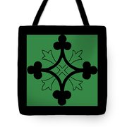 Panel - Black And Green Clover Style Greek Cross Tote Bag