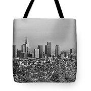 Pano Los Angeles City Black White Tote Bag