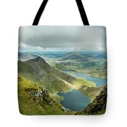 Pano Snowdonia Tote Bag by Nick Bywater