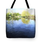 Panorama 2 Of Monets Garden In Giverny Tote Bag