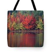 Panorama Fall Color Moccasin Lake Upper Peninsula Mi Tote Bag