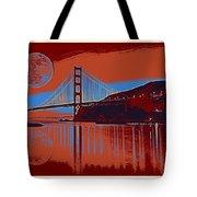 Panorama Golden Gate Bridge Landmark 2 Tote Bag