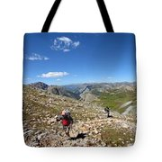 Panorama Looking Down Elk Creek From The Continental Divide - Weminuche Wilderness Tote Bag