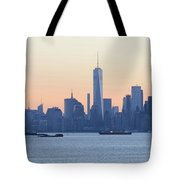 Panorama New York City Skyline At Sunrise Tote Bag